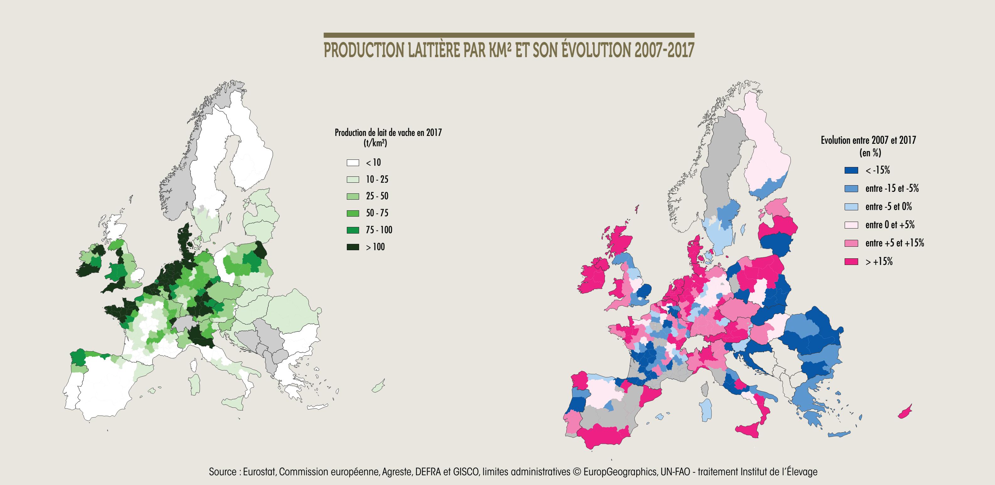EVOLUCION PRODUCCION LEITE UE