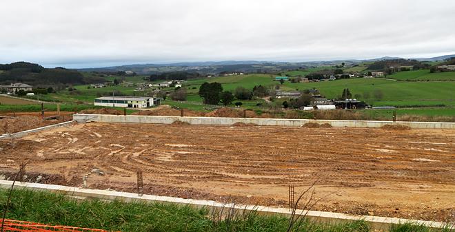 Obras de ampliación dunha explotación na parroquia de Álvare (A Pastoriza) unha das de maior produción de leite de Galicia