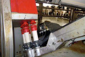 Robot en la Ganadería Mingón Holstein, de Tineo (Asturias)