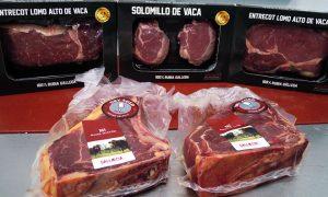 Gama de productos de Gallaecia Delicatessen envasados al vacío de forma individual, pensados para lineales de supermercado