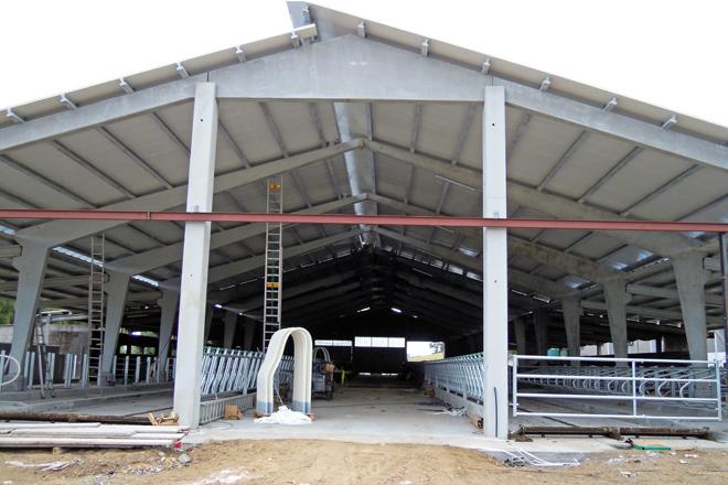 Obras da última ampliación acometida a finais do 2019 para 80 vacas máis en produción