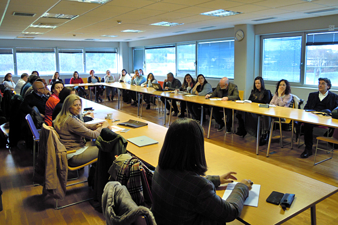 Integrantes dos grupos de investigación da USC en Lugo asistentes á xornada
