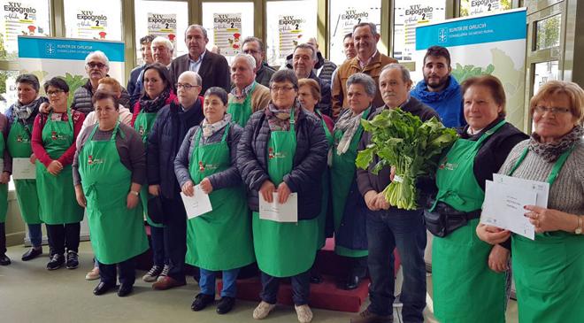 Produtoras do concello de Abadín durante a entrega de premios da pasada edición