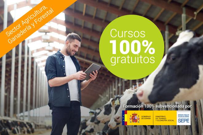 Cursos online gratuítos para el sector agrícola, ganadero y forestal