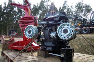 Unha mesma góndola pode transportar a cortadora e a procesadora, aforrando en desprazamentos