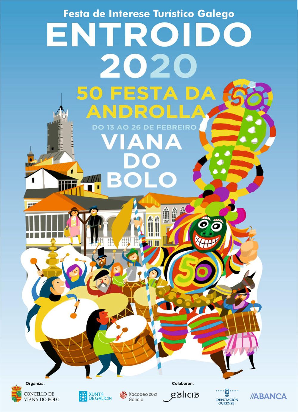 WEB viana cartel entroido 2020 con logos