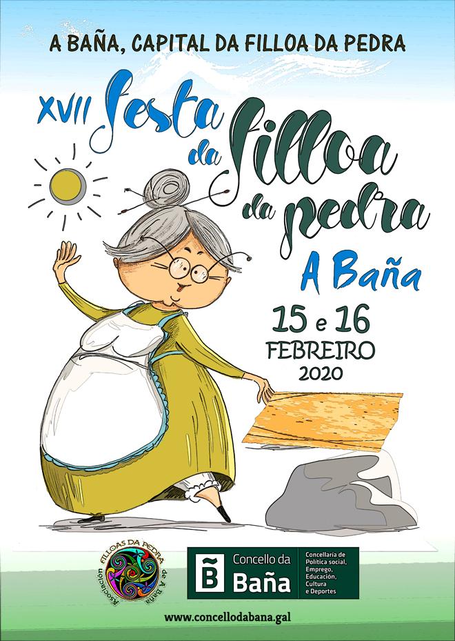 cartel Festa da Filloa A Baña 2020