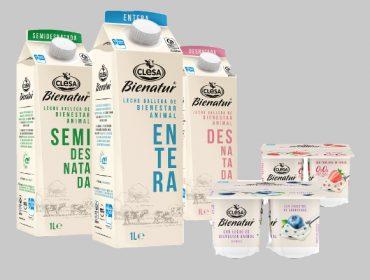 """Clesa lanza """"Bienatur"""", a súa nova gama de leites e iogures de benestar animal"""