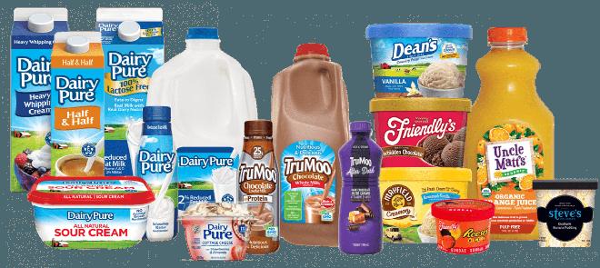 Gama de productos de Dean Foods