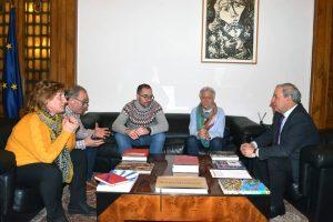 Reunión celebrada o mes pasado da comisión organizadora da Moexmu co presidente da Deputación