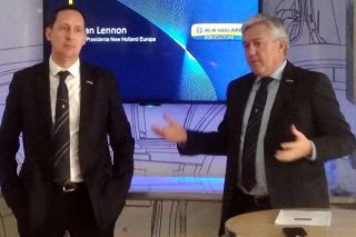 Sean Lennon, vicepresidente de la marca para Europa, y Carlo Lambro.