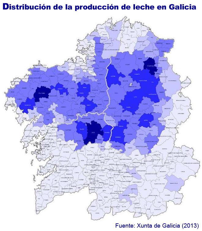 grafico mapa producion leite por concellos ESP