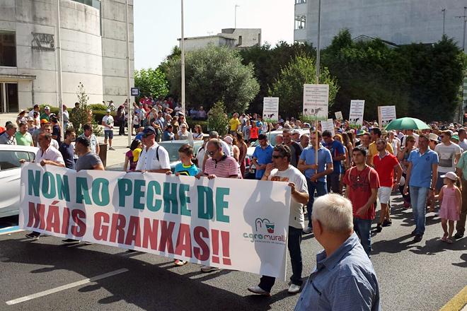 Manifestación de Agromuralla en Lugo no ano 2015