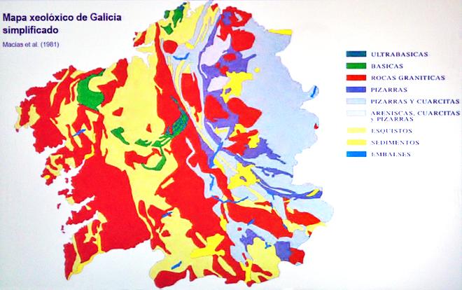 mapa dos solos de Galicia