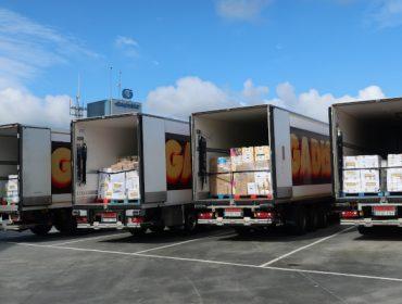 Gadis reparte 30.000 quilos de produtos entre 11 bancos de alimentos
