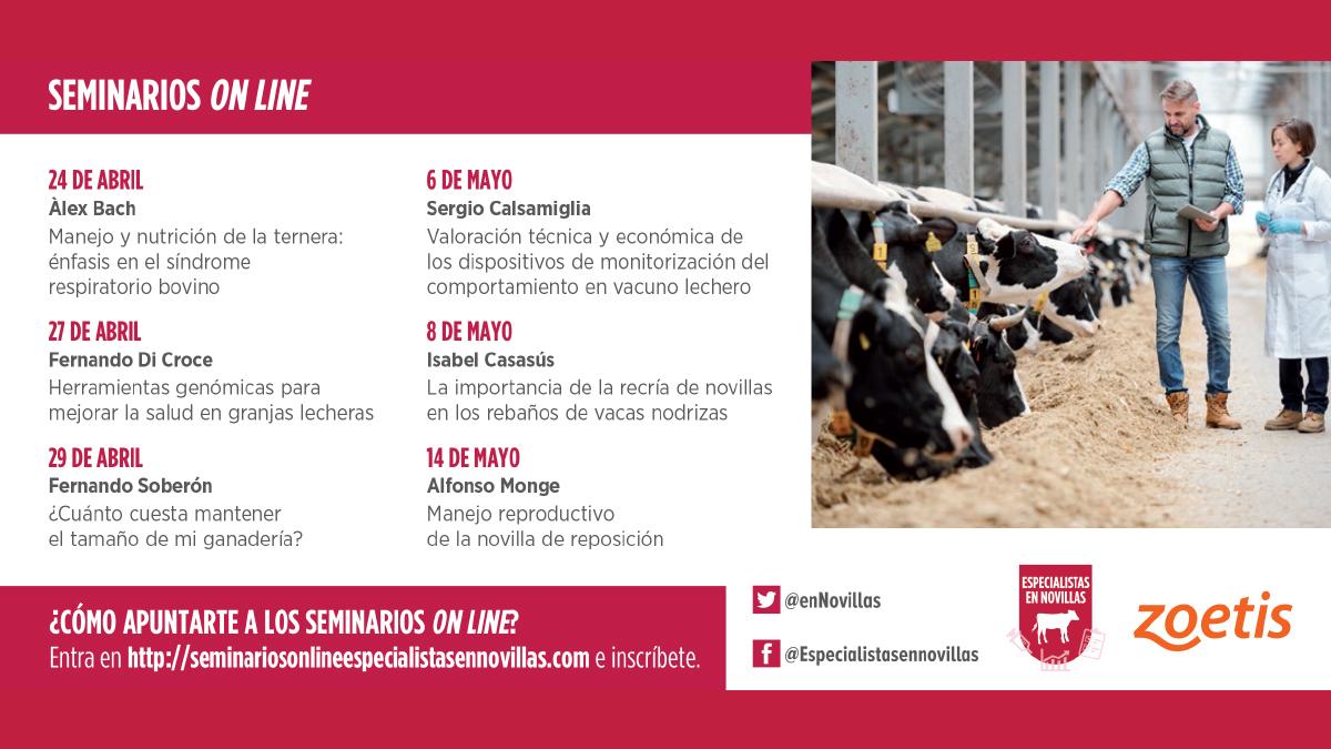 Formación online sobre cría de novillas en vacuno de leche