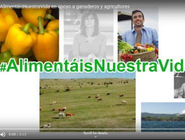 Campaña #AlimentáisNuestraVida en apoio a gandeiros e agricultores