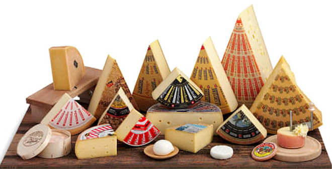 En Suiza elabóranse máis de 450 variedades diferentes de queixo