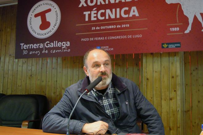 Gonzalo Fernández, durante a súa intervención nas xornadas técnicas de Ternera Gallega