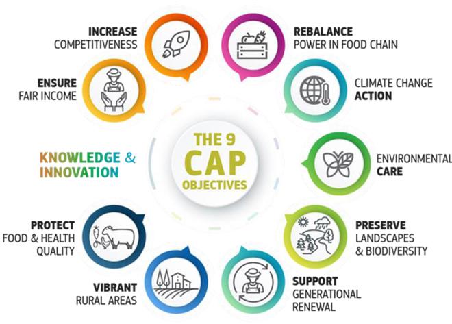 esquema 9 obxectivos PAC 2021-2027