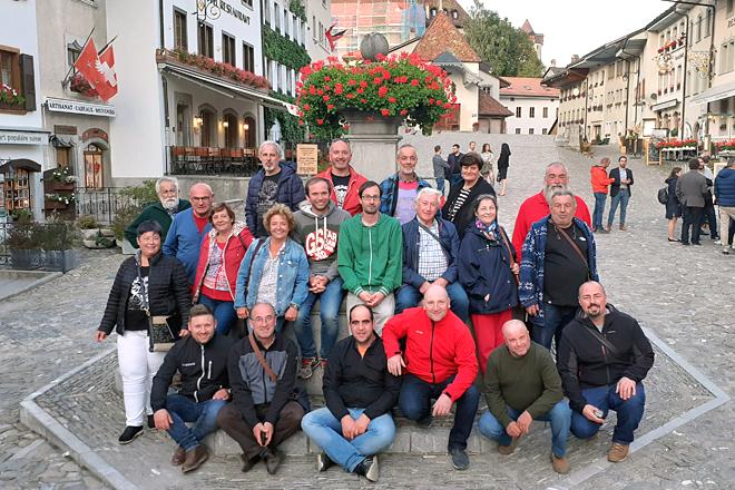 Ganaderos gallegos durante la visita que realizaron a Suíza