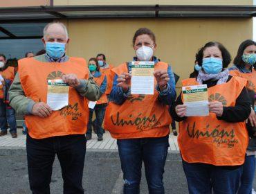 Protesta de gandeiros de vacún de carne na Limia