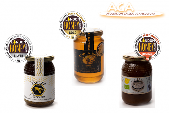 Meles galegos galardoados no London International Honey Awards 2020