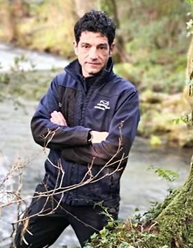 Eloi Rodríguez, garda fluvial de Augas de Galicia.