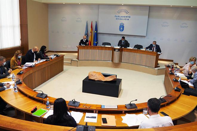 Un momento da Comisión de Agricultura do Parlamento Galego celebrada este xoves