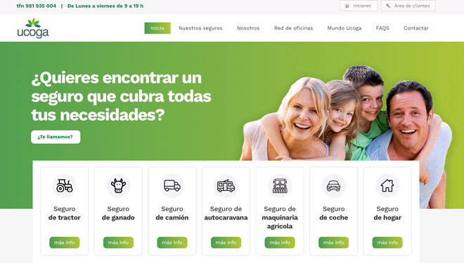Ucoga seguros estrea nova web