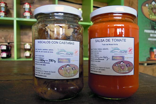 Níscalos con castañas e salsa de tomate, produtos deste ano 2020