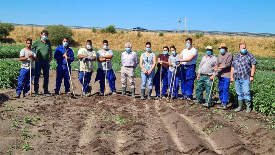 O INORDE mantén un convenio de colaboración con CÁRITAS Ourense para cederlle a produción da súa finca de ensaio da Limia