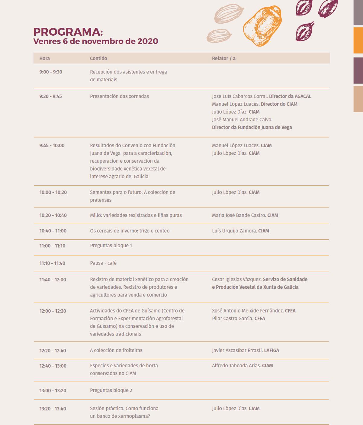 XORNADA JUANA DE VEGA CIAM programa