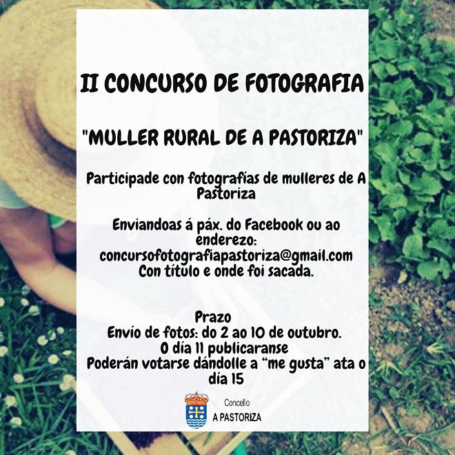 cartel II Concurso Fotografia Muller Rural da Pastoriza