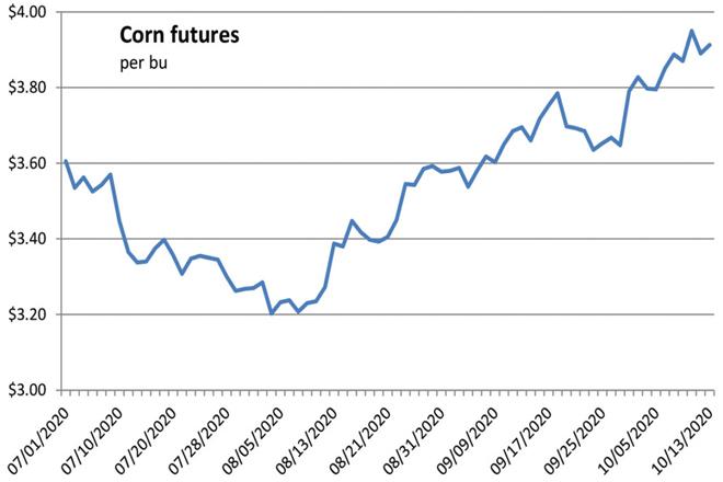 Cotización do millo na Bolsa de Chicago