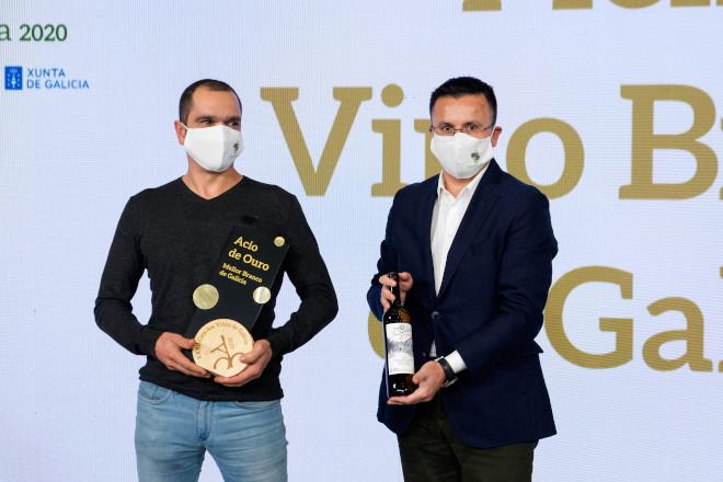 A entrega da distinción ao mellor viño branco de Galicia