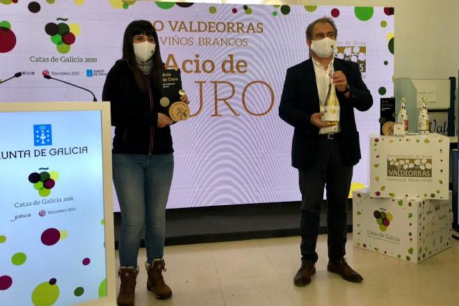 """""""O Luar do Sil"""" en brancos e """"Alán de Val Mencía"""" en tintos, premios aos mellores viños de Valdeorras"""