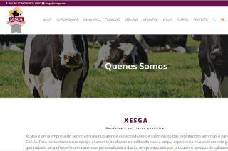 A empresa galega de produtos e servizos agrogandeiros Xesga estrea páxina web