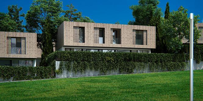 Urbanización residencial Paraíso Oleiros, cuxa construción se vai levar a cabo empregando madeira