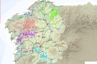 Publicado o mapa das concentracións parcelarias realizadas en Galicia