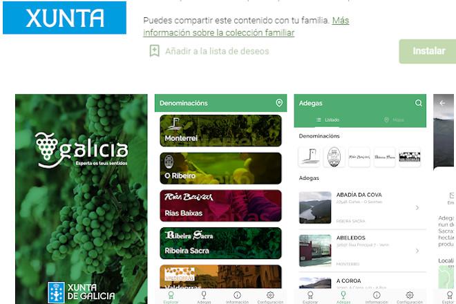 Actualizada a App da Xunta para desfrutar do enoturismo en Galicia