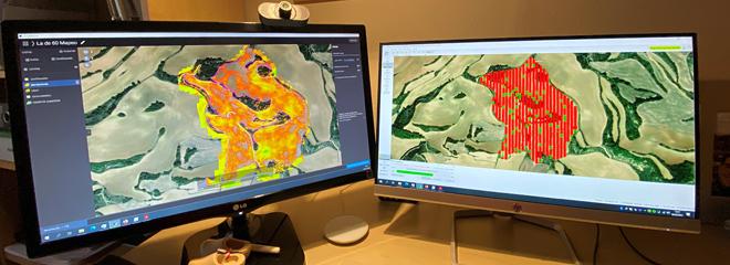 Utilizan mapas de cultivo para delimitar as zonas máis produtivas