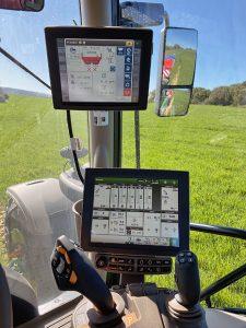 Cadro de mandos do tractor