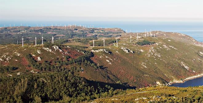 Parque eólico de Corme antes da súa repotenciación