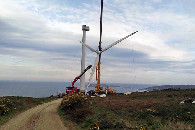 Repotenciación do parque eólico de Malpica no ano 2016