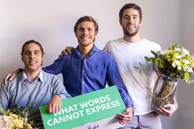 Sergi, en medio, junto a Marc y Andrés, cofundadores de Colvin