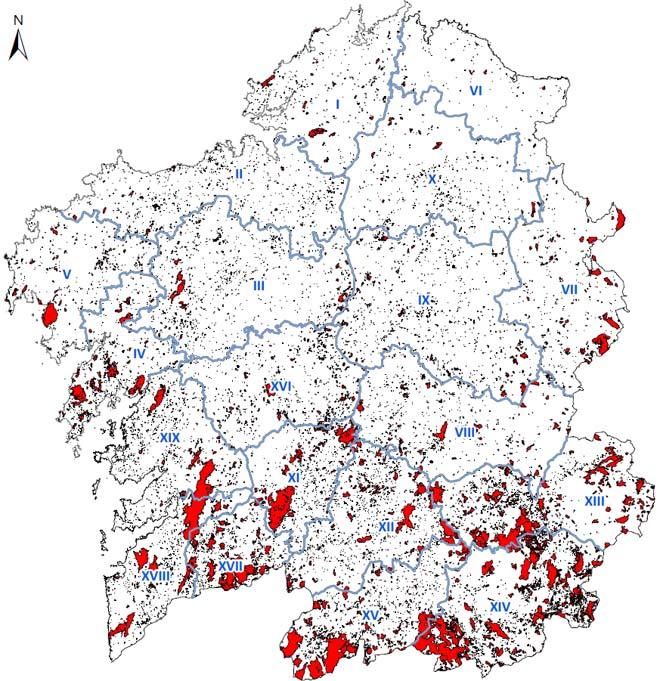 Mapa de incendios forestales de la última decada. / Fuente: Pladiga.
