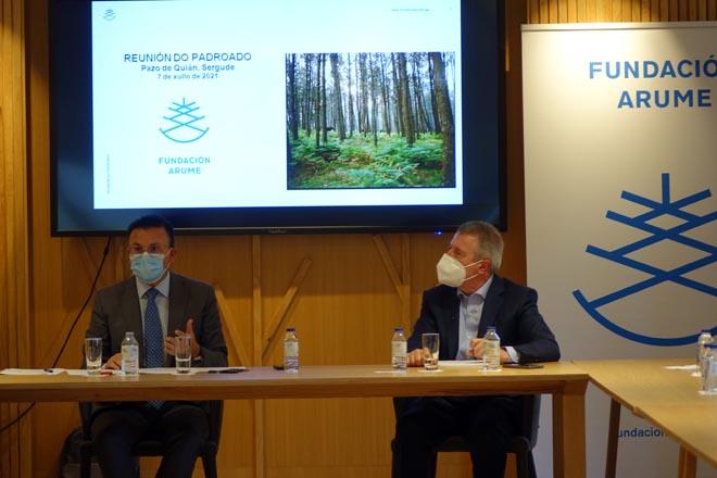 Intervención do conselleiro de Medio Rural, José González, na reunión do Padroado da Fundación Arume.