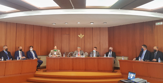 Imaxe da Asemblea Xeral de Caixa Rural celebrada o sábado en Lugo