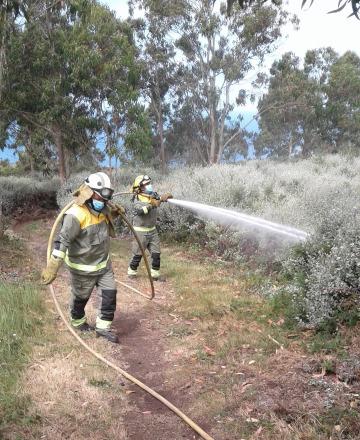 Traballos de formación do persoal de loita contra os incendios
